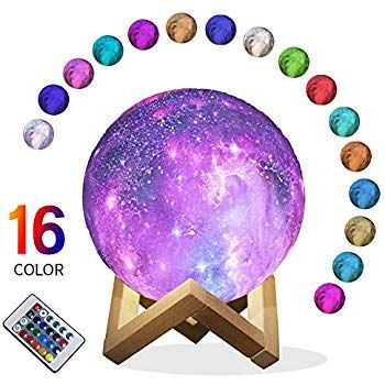 Star Night Light For Kids Galaxy Moon Lamp 16 Colors Led 3d Print Moon Light Star Night Light Led Color Cool Gifts For Women