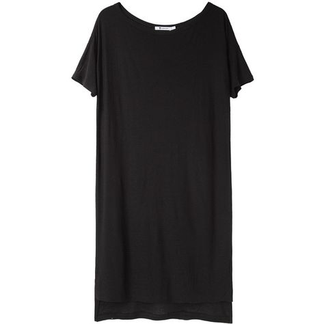T by Alexander Wang Boatneck Jersey Dress (100 AUD) found on Polyvore