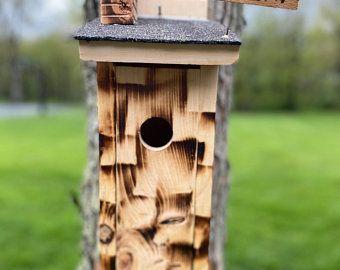 Birdhouse Modern Wooden Birdhouse Minimalist Blue Fiji With Etsy Bird Houses Bird Houses Diy Cedar Paneling