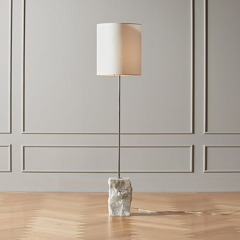 Raw Marble Floor Lamp in 2020 (With images)   Floor lamp