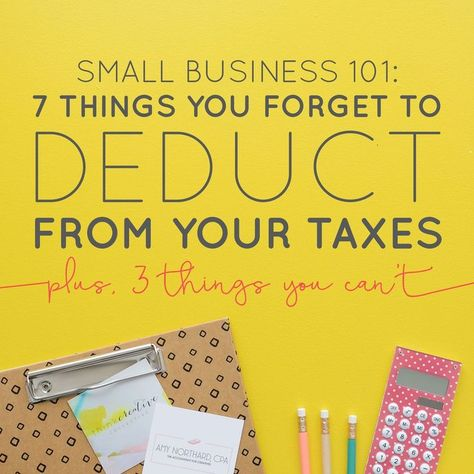 7 Things You Forget to Deduct on Your Taxes (+ 3 That You Can't) — Boss Project