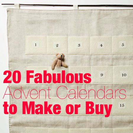 20 advent calendars to make or buy