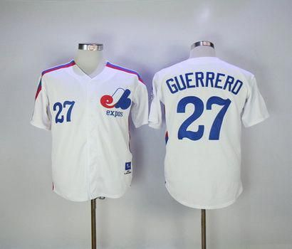designer fashion 6d0b7 674e2 Montreal Expos Mens Jerseys 27 Vladimir Guerrero Throwback ...