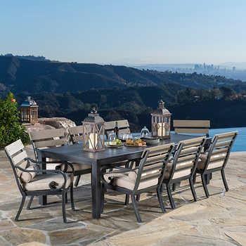 44++ San paulo 9 piece patio dining set Top