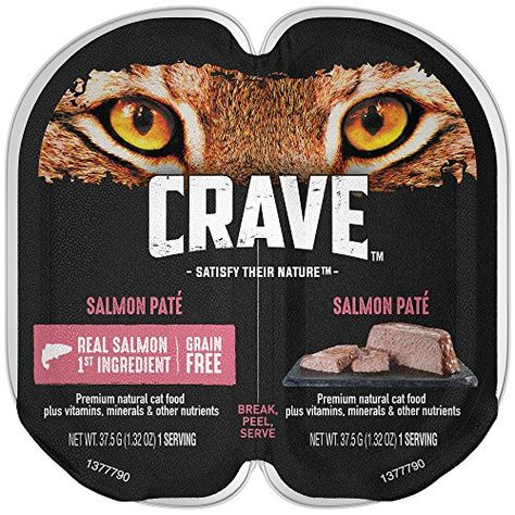 Crave Grain Free High Protein Salmon Pat Wet Cat Food Trays Give Your Feline The Power Of Protein With Crave Free Cat Food Canned Cat Food Grain Free Cat Food