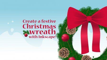 Create A Festive Christmas Wreath With Inkscape Sponsored Christmas Wreaths Christmas Wreath Illustration Festive Christmas
