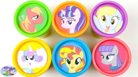 My Little Pony Learning Colors Play Doh Cans MLP Shopkins Surprise