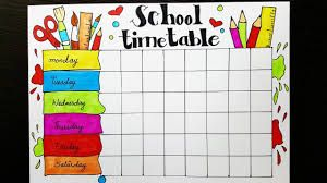 Time Table Chart For Classroom Handmade Google Search School Timetable Timetable Design Make School