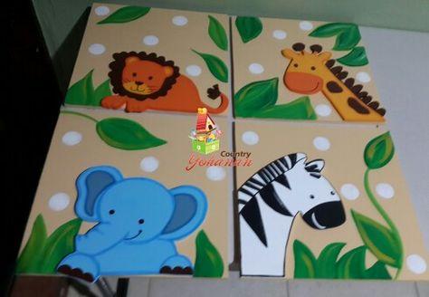 cuadros infantiles animales de la selva
