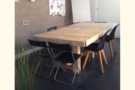 Table De Réunion En Palettes Maison Table Salle à Manger