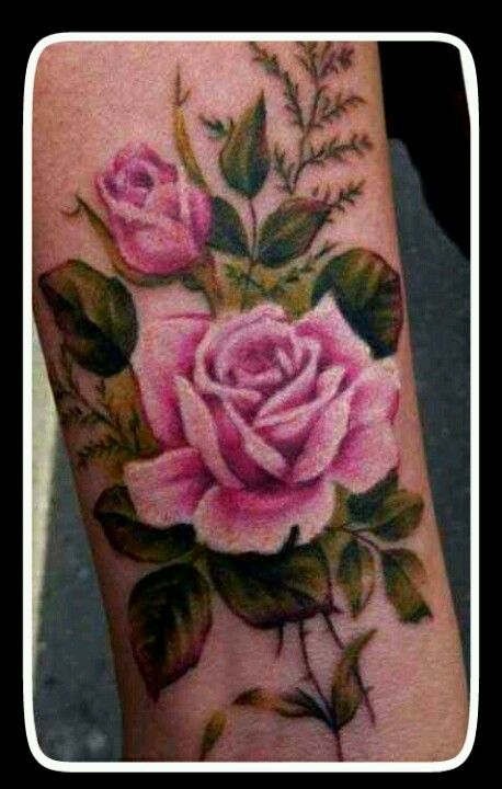 Pretty rose design - by new wave tattoo, London.