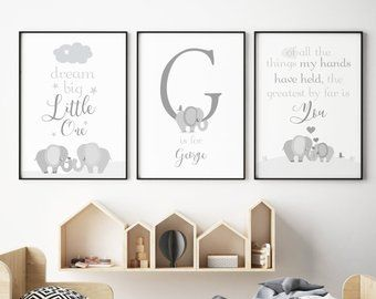 Grey Nursery Decor Etsy Uk In 2019 Elephant