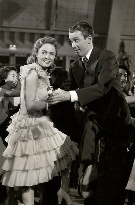 "The good old Charleston scene from ""It's a Wonderful Life"" starring Donna Reed and James Stewart."