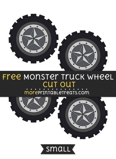 Free Monster Truck Wheel Cut Out
