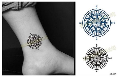 Compass Ink Temporary Tattoo