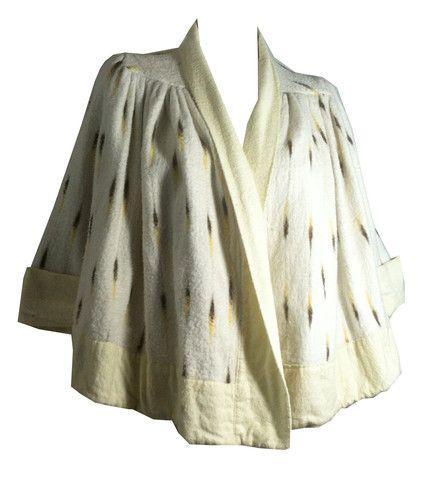 Rare Trompe L'Oeil Faux Ermine Evening Coat circa 1930s - Dorothea's Closet Vintage