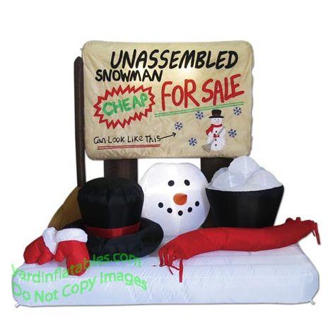 4 1/2' Unassembled Snowman Scene