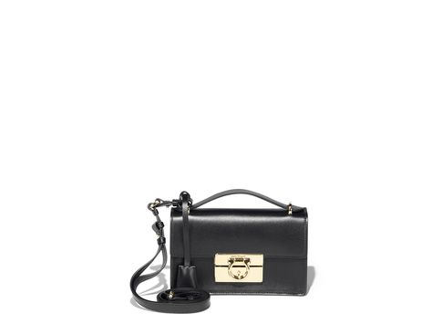 a1cfbd2843 Small Gancio Lock Shoulder Bag - Shoulder Bags   Hobos - Handbags - Women - Salvatore  Ferragamo