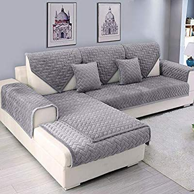 Amazon Com Ostepdecor Couch Cover Sofa Cover Quilted Sectional