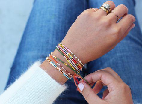 Morse Code message beaded bracelet free tutorial