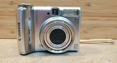 Canon Powershot A570 Is 7 1mp Digital Camera Silver Digital Camera Camera Powershot