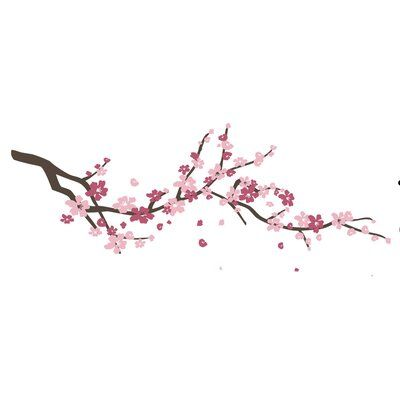 Ophelia Co Cherry Blossom Branch Wall Decal In 2021 Cherry Blossom Branch Cherry Blossom Drawing Flower Vine Tattoos