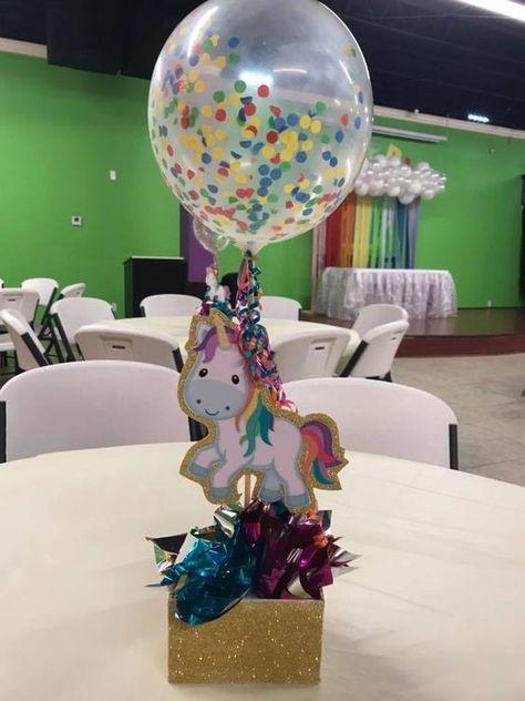 Centro De Mesa Con Globos Para Celebracion De Unicornio Decoracion Fiesta Unicornio Ideas De Fiesta Unicornio Fiestas De Cumpleanos Unicornio