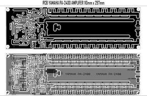 Yamaha Power Amplifier PA-2400 Schematic & PCB in 2019 | yae | Audio