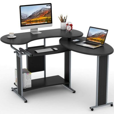 Little Tree Rotating Modern Computer Corner Desk Modern Office Desk Home Office Furniture Desk Computer Desk With Shelves