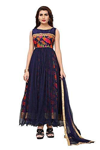 ede793de2a5 Drashti Villa Women  s Bangalory Silk Printed and Net Anarkali Gown (Free  size)