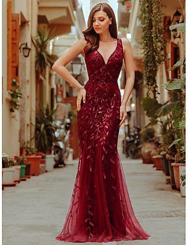 UK Ever-Pretty V-neck Velvet Formal Evening Party Dresses Pageant Celebrity Gown