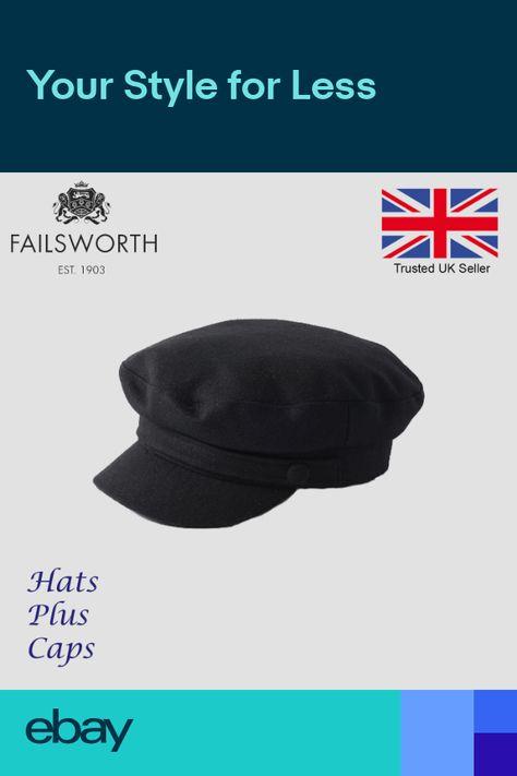 b19b385948f Failsworth Melton Wool Mariner Breton Cap Black Greek Fiddler Sailor  Fishing Hat