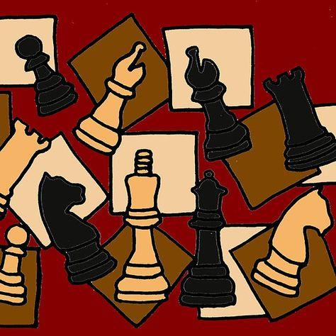 Awesome Chess Piece Art Abstract Original