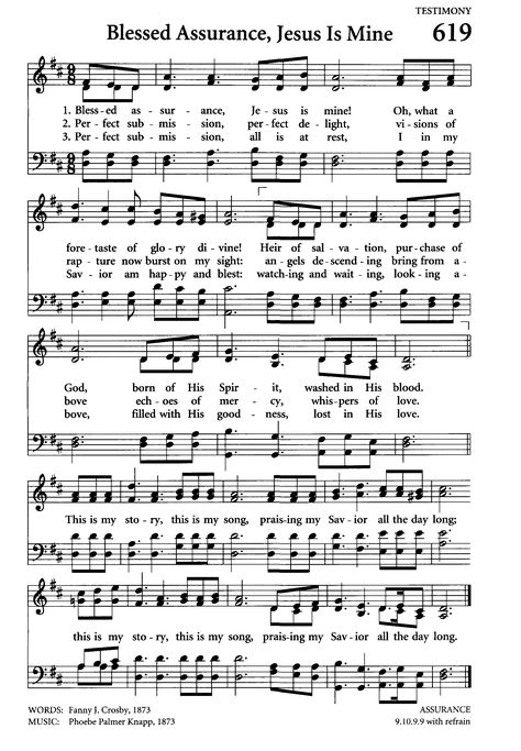 Blessed Assurance ~ one of my Grandmother's most favorite hymn. Gospel Song Lyrics, Christian Song Lyrics, Gospel Music, Christian Music, Music Lyrics, Bible Songs, Praise Songs, Worship Songs, Bible Verses