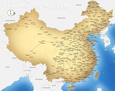 Carte Train Chine Carte De Train Voyage En Train Chine