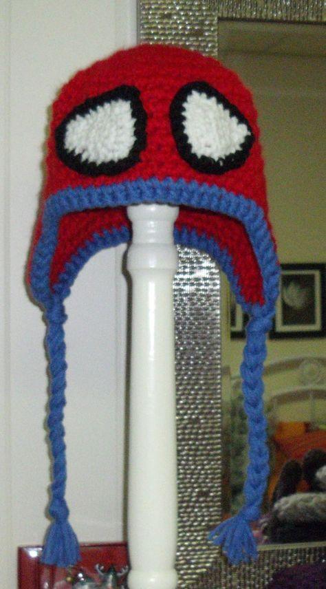 Spiderman, crochet hat, kids crochet