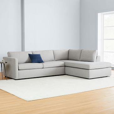Terminal Chaise Sleeper Sectional, Cream Sleeper Sofa With Chaise