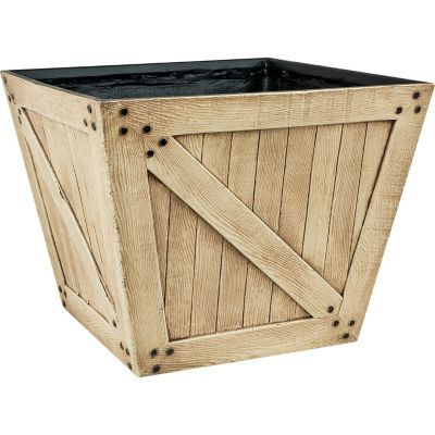 Tractor Supply Find Red Shed Barn Door Square Planter In The Outdoor Decor Category At Tractor Supply Co The Red Shed Barn Door Square Planters Barn Door Shed