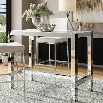Wade Logan Brookhaven Dining Table Finish White Counter Height Dining Table Dining Table In Kitchen Dining Table