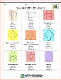 Free Printable Geometric Nets Worksheet