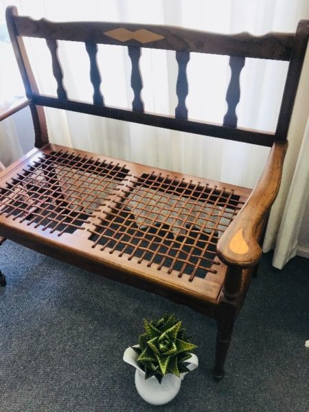 Blackwood And Leather Riempie Couch R 2500 Woodstock Gumtree Classifieds South Africa 266538611 Couch Home Decor Toddler Bed