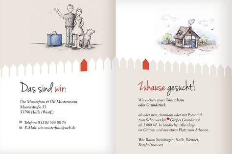 Motiv bzw. Illustration für Visitenkarte Haussuche