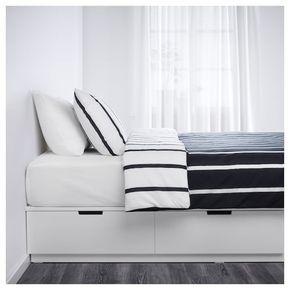 Nordli Bettgestell Mit Schubladen Weiss Ikea Deutschland Bettgestell Bett Lagerung Bett 140x200 Weiss