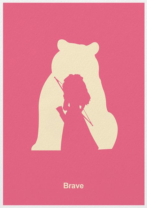 Brave Minimalist Poster Poster A3 Print by Posterinspired on Etsy