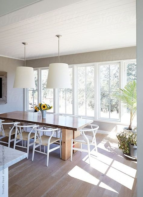 Dining room in luxury modern design farmhouse by Trinette Reed for Stocksy United