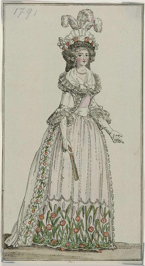 Journal Des Luxus Und Der Moden December 1791 Georg Melchior Kraus 1791 Rijksmuseum Japon Prints Historische Kleding