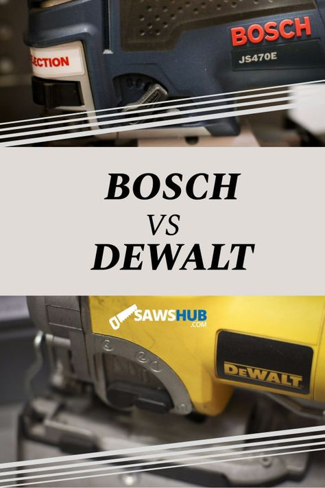 The two best brands in power saw tools, come learn what separates Bosch and Dewalt. We rank and review both brands and tell you which one wins out. #sawshub #DIY #powertools #woodworking #saw #bosch #dewalt