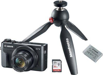 Canon Powershot G7 X Mark Ii 20 1 Megapixel Digital Camera Video Creator Kit Black 1066c029 Best Buy Canon Powershot Digital Camera Powershot
