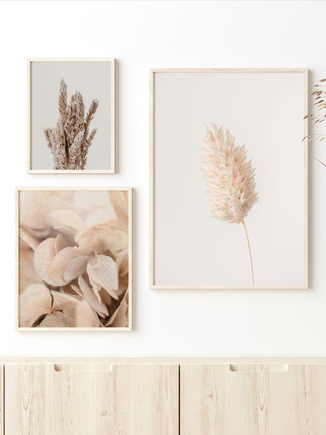 Botanical Wall Art, Set of 3 Farmhouse Prints, Decor Photo