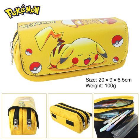 Costumes & Accessories Anime Pokemon Pikachu Pencil Case Poke Ball Cosplay School Writing Case Children Plush Pencil-case Costume Props